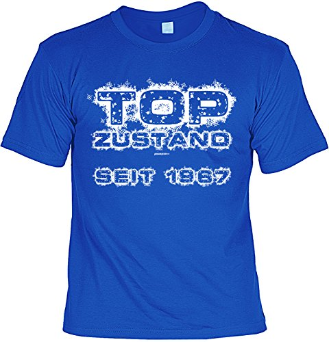 tolles T-Shirt zum 50. Geburtstag - Leiberl Papa Geschenk zum 50 Geburtstag 50 Jahre Geburtstagsgeschenk 50-jähriger Top Zustand seit 1967 Royalblau