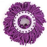 Lalang Têtes de rechange pour balais-serpillères Mop, 360 ° degrés de rotation Tête, Violet