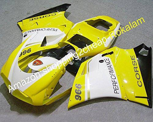 Hot Sales, Jaune Blanc Noir Corps Carénage pour Ducati 996 748 916 1996 97 98 99 00 01 2002 Sportbike Carénages de moulage par injection ()