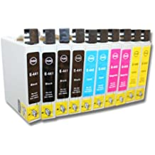 10 x Cartucho de tinta para EPSON-Stylus CX3600 / CX3650 / CX6400 / CX6500 / CX6600 / CX6650.