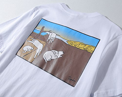 BOMOVO Herren RIPNDIP Oversize T-Shirt Rundhals Basic Shirt LN6281 Schwarz
