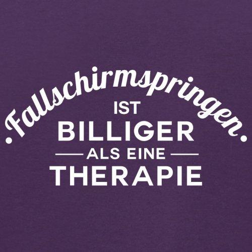 Fallschirmspringen ist billiger als eine Therapie - Herren T-Shirt - 13 Farben Lila