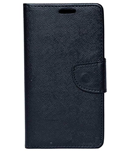Zocardo Fancy Diary Wallet Flip Case Cover for Karbonn A15 Plus -Black with Magnetic Flap and foldable stand  available at amazon for Rs.399