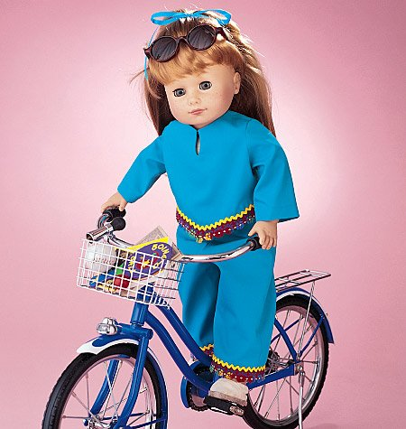 McCalls 3474-Cartamodello per artigianato vestiti per bambole, taglia unica