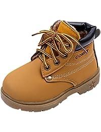 Juleya Botas de Invierno para niños - Niños/niñas Zapatos con Forro cálido Botines Zapatillas
