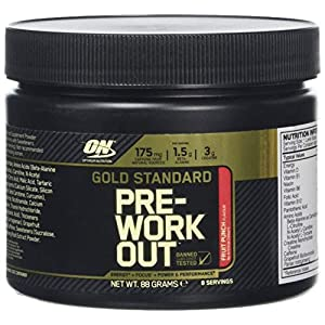 51etqr%2BoAOL. SS300  - Optimum Nutrition Gold Standard Pre-Workout, Fruit Punch, 8 Serve Tub