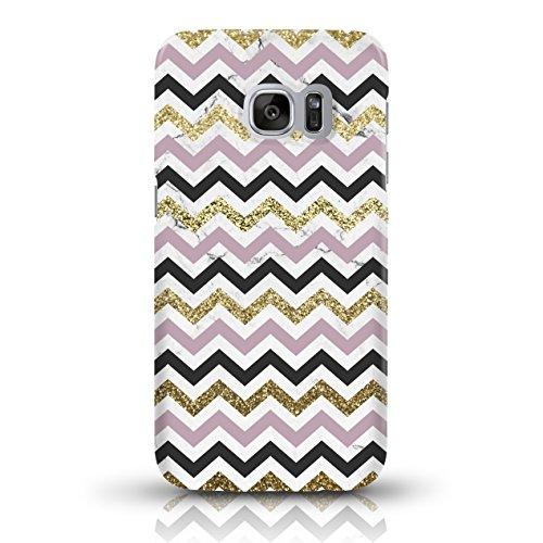 """JUNIWORDS Handyhüllen Slim Case für Samsung Galaxy S7 - Motiv wählbar - """"Anker Design 1 Dunkelblau"""" - Handyhülle, Handycase, Handyschale, Schutzhülle für Ihr Smartphone Chevron Muster bunt"""
