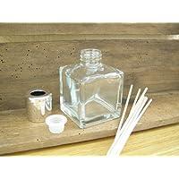 Raumduft Lufterfrischer, leer, aus Glas, quadratisch, Flasche für Duftstäbchen, abgerundet, glänzender silberfarbener... preisvergleich bei billige-tabletten.eu