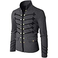 Herren Cardigan Jacke,TWBB Winter Mantel Gotisch Sticken Jacket Trench Coat Windjacke Pullover Drucken Lange Ärmel Oberteile