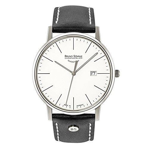 Bruno Söhnle Herren Analog Quarz Uhr mit Leder Armband 17-13175-241