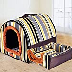 ZHENGDY Soft Pet Beds,Warm 2 In 1 Pet Nest Non-slip Dog Cat Bed Foldable Winter Soft Cozy Sleeping Bag Mat Pad Cushions