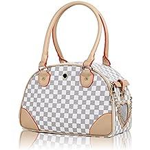 Groß Transporttasche Tasche für kleine Hunde bis 2kg Hundetasche Katzentasche Hundebox Katzenbox Chihuahua 36*16*23 cm (weiß) 08WT