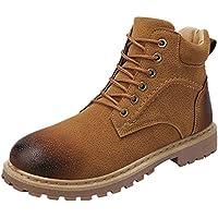 LILICAT☃ Antideslizante para Hombre, Exterior, High-Top y Herramientas de Terciopelo. Casual Keep Warm Tooling. Zapatillas de Deporte Resistentes al Desgaste.