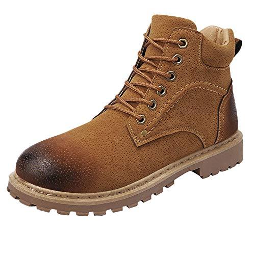 Herren High Boot Tops (TPulling Winterschuhe Warme Gefüttert Winter Boots Lässige Herren Outdoor Warmhalten Werkzeugschuhe tragen beständige High-Top-Sneakers)