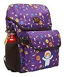 AARYA LONDON Kinderrucksack mit abnehmbarer Brotdose I Kindergartenrucksack I Süße & robuste Kindergartentasche Design Weltraum - 7.5 l, lila (Boy Astronaut)