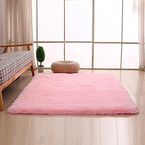 Teppiche, CAMAL Rechteck Waschbarer Seide Wolle Material Teppich für Wohnzimmer und Schlafzimmer (140cmX200cm,