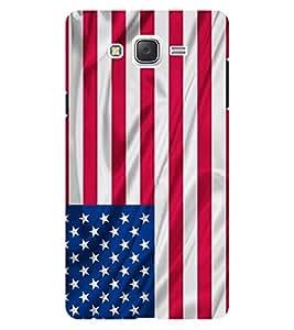 Chiraiyaa Designer Printed Premium Back Cover Case for Samsung Galaxy On7 (usa flag) (Multicolor)