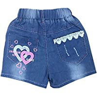 Zier bambini ragazze pantaloncini Jeans Denim Casual
