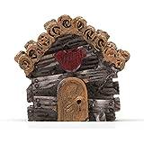 SecretRain Villa auf Der Wiese aus Harz DIY Puppenhaus-Ausschmückung Mini-Welt Miniatur Mini-Szene