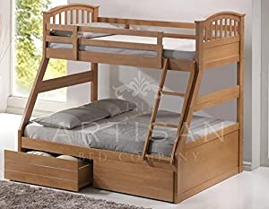 Three Sleeper Bunk Bed Oak