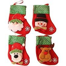 Hosaire 4 Piezas Bolsos de Caramelo Bolsa de Navidad en Regalo de Caramelo Regalo de Chocolate