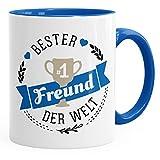 MoonWorks Kaffee-Tasse Bester Freund der Welt Geschenk für Freund Royal Unisize