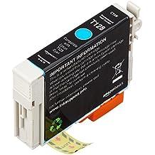 AmazonBasics - Wiederaufbereitete Tintenpatrone für Epson Apple T128 Cyan