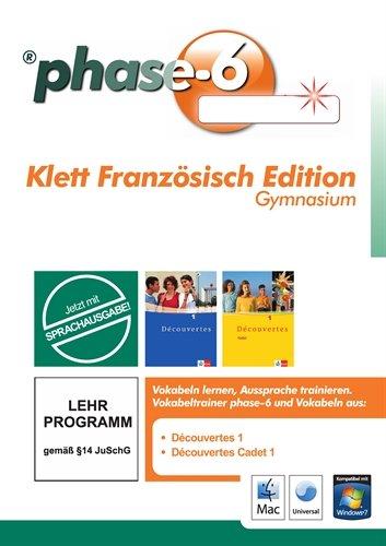 phase6 Klett Französisch Edition Gymnasium: Vokabeltrainer phase6 mit allen Vokabeln von Decouvertes 1 und Découvertes Cadet 1