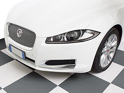 Boden Fliese Flexible Weiße PVC Beschichtung Werkstatt Auto Moto Sogi pav-02-bi