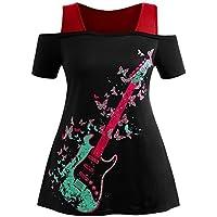 KanLin1986-Ropa Camisetas Mujer Verano Blusa Mujer Tops Mujer Verano Blusa Sin Tirantes Camisetas de Manga Corta Sudaderas Imprimir Cami Tops Blusa Camisetas Mujeres Tallas Grandes - Cosmética y perfumes - Comparador de precios