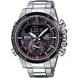 Casio Herren Analog Klassisch Quarz Uhr mit Edelstahl Armband ECB-800DB-1AEF