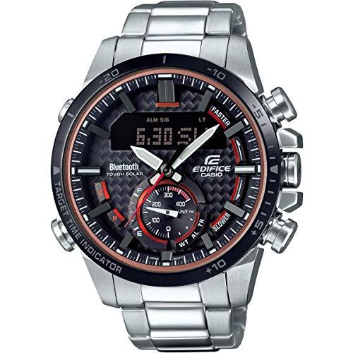 Casio Herren Analog Quarz Uhr mit Edelstahl Armband ECB-800DB-1AEF