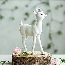 XOYOYO Los Amantes De Ciervo Blanco Europeo Ornamentos Mobiliario De Hogar Salón Tv Armario Decoración Decoración Resina,Princesa Del Ciervo