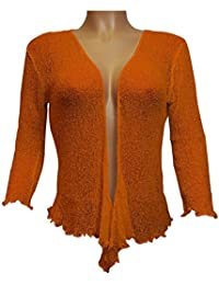 Maglioni amp; Amazon Felpe it Arancione Cardigan Coprispalle tqwr8f4w