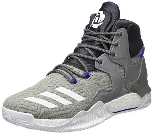 Aus Basketball-schuhe (Adidas D Rose 7Herren Basketball Schuhe, Grau–(grpuch/Ftwbla/grpudg) 422/3)