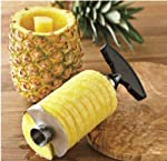 Enjoy scrumptious slices of FRESH PINEAPPLE using our unique Pineapple Peeler, Corer & Slicer! It provides you with perfect slices of pineapple, just like should you dine out. And it is not only fruit slices you receive, either. Our product peels...
