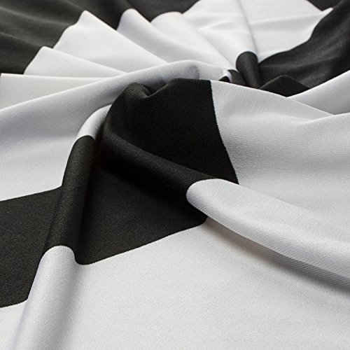 Moon Angle Sommerkleid Damen Lang Chiffon High Waist Striped Sleeveless Beach Kleid Partykleid Elegant Schwarz