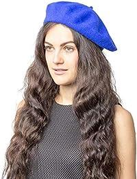 30e9b2cd1de35 Plain Beret Hat 100% Wool French Beret Winter Autumn Women