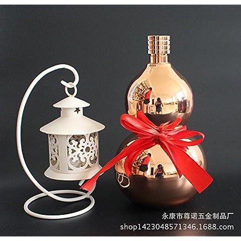 GG Calabaza de botella de acero inoxidable con el machacado pote de 3 libras con regalos de Navidad nuevo de características chinas de oro frasco de la cadera