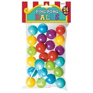 Assortiment de balles en plastique colorées (24 balles-approximativement de la taille d'une balle de ping pong)