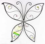 ITP Metal Butterfly Garden Hanging Wall Art Decoration Coloured Beads