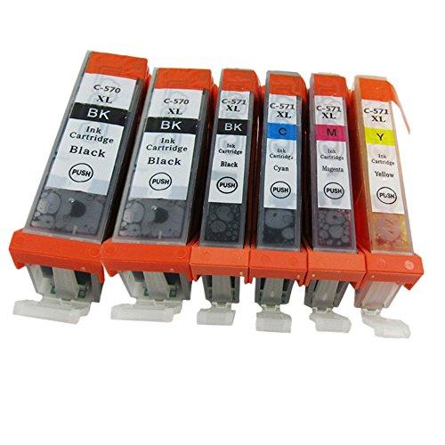 Preisvergleich Produktbild Generisch Kompatible Tintenpatronen Ersatz für Canon PGI 570XL 570 XL CLI 571XL 571 PGI-570 PGI-570XL CLI-571 CLI-571XL PGI-570XL CLI-571XL Tintenpatronen Hohe Kapazität kompatibel für Canon PIXMA MG7700 MG7750 MG7751 MG7752 MG7753 Tintenpatronen für Inkjet Drucker (2 Grossen Schwarz,1 Klein Schwarz,1 Cyan,1 Magenta,1 Gelb)
