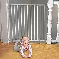 Barrera de puerta y escaleras de seguridad ajustable de 64-109 cm - Valla de seguridad Infantil Separador de estancias y fácil controlarlo con solo una mano.
