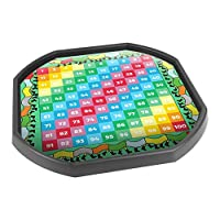 Tiger Moon Tuff Spot Play Tray Mat Insert - 1-100 Number Grid Numeracy - Ideal for Tuff Spot Play Tray