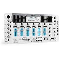 IBIZA DJM-102 Mixer DJ 4 canali professionale (preascolto, equalizzatore 10 bande, sezione microfoni)