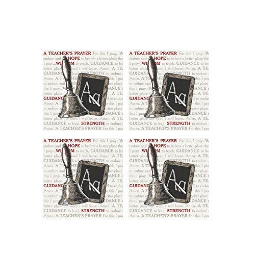 Teachers Prayer Square House Coaster Set of 4 New Haus Coaster Set