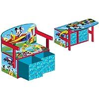 Delta Children's Products Disney Mickey Mouse 3 in 1 Bank aus Holz umklappbar zum Maltisch mit Aufbewahrungsboxen preisvergleich bei kinderzimmerdekopreise.eu
