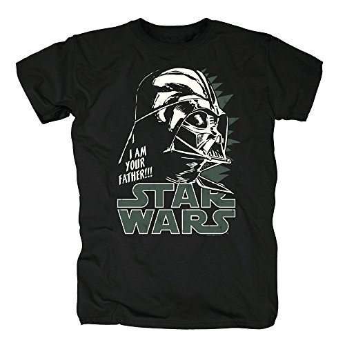 Darth Vader Shirt Kostüm - TSP Star Wars - Darth Vader I am Your Father T-Shirt Herren XL Schwarz