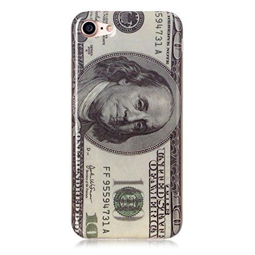 TPU Silikon Schutzhülle Handyhülle Painted pc case cover hülle Handy-Fall-Haut Abdeckungen für Smartphone Apple iPhone 7 (4.7 Zoll) +Staubstecker (6GW) 8