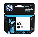 HP 62 black ink cartridge 4 ml 200 pages black ink cartridge – Ink Cartridges (HP, Black, Envy 5640 e-AIO, Envy 7640 e-AIO, Officejet 5740 e-AIO, Standard, 4 ml, 200 pages)